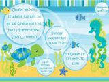 Under the Sea Baby Shower Invitation Templates Under the Sea Baby Shower Invitations Template