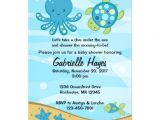 "Under the Sea Baby Shower Invitation Templates Under the Sea Blue Baby Shower Invitations 5"" X 7"