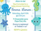 Under the Sea Baby Shower Invitation Templates Under the Sea Shower Invitation Boy