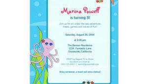 Under the Sea Birthday Invitation Template Under the Sea Birthday Party Invitations Zazzle