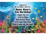 Under the Sea Birthday Invitations Free Free Printable Under the Sea Birthday Party Invitations