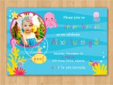 Under the Sea Birthday Invitations Free Girl Under the Sea Birthday Invitation Diy Custom Printable