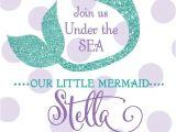 Under the Sea Birthday Invitations Free Printable Mermaid Birthday Invitation Quot Under the Sea Quot Digital