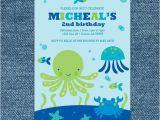 Under the Sea Birthday Invitations Free Printable Under the Sea Birthday Invitation Printable Under the Sea