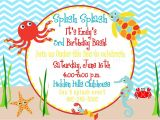 Under the Sea Birthday Invitations Free Under the Sea Birthday Invitation $12 00 Via Etsy