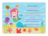 Under the Sea Birthday Invitations Free Under the Sea Birthday Invitation Choose Mermaid You Print