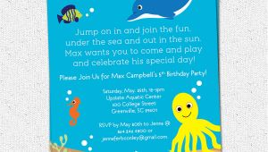 Under the Sea Birthday Party Invitation Template Under the Sea Birthday Party Invitation Printable Boy or