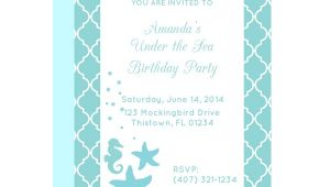 Under the Sea Birthday Party Invitations Free Printable Free Printable Under the Sea Party Invitation From