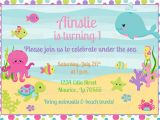 Under the Sea Birthday Party Invitations Free Printable Printable Girl Under the Sea Birthday Invitation Plus Free