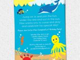 Under the Sea Birthday Party Invitations Free Printable Under the Sea Birthday Party Invitation Printable Boy or