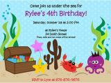 Under the Sea Birthday Party Invitations Free Printable Under the Sea Printable Birthday Party Invitation
