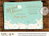 Under the Sea Bridal Shower Invitations Beach Bridal Shower Invitation Wedding Shower Invite