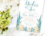 Under the Sea Bridal Shower Invitations Items Similar to Under the Sea Bridal Shower Invitation
