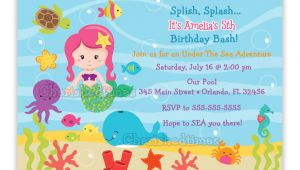 Under the Sea Party Invitation Template Under the Sea Birthday Invitation Choose Mermaid You Print