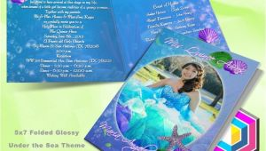 Under the Sea Quinceanera Invitations Beach theme Invitations Under the Sea Party Pinterest