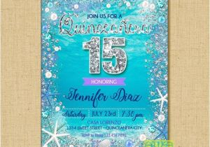 Under the Sea Quinceanera Invitations Quinceanera Under the Sea Ocean Quinceanera Invitation