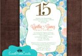 Under the Sea Quinceanera Invitations Under the Sea Ocean Quinceanera Coral Invites