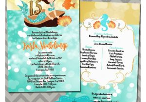 Under the Sea Quinceanera Invitations Under the Sea Quinceanera Invitations Turquoise 15th