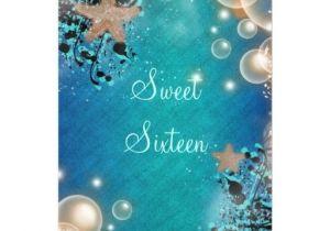 Under the Sea Quinceanera Invitations Under the Sea Sweet 16 Decorations Under the Sea