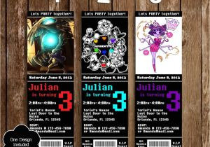 Undertale Birthday Invitations Novel Concept Designs Undertale Game Ticket Birthday