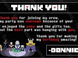 Undertale Birthday Invitations Novel Concept Designs Undertale the Video Game