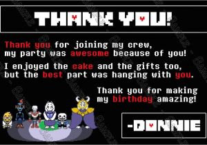 Undertale Birthday Invitations Novel Concept Designs Undertale the Video Game