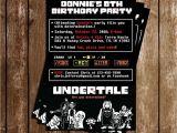 Undertale Birthday Invitations Novel Concept Designs Undertale Video Game Birthday