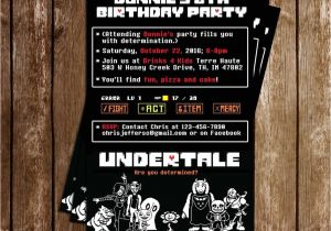 Undertale Birthday Invitations Novel Concept Designs Undertale Video Game Birthday