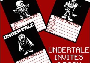Undertale Birthday Invitations Undertale Birthday Invitations 3 Pack Digital Download 5×7