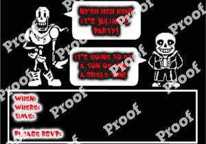 Undertale Birthday Invitations Undertale Birthday Party Invitation by Geekbythebeach On Etsy