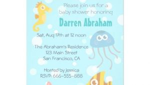 Underwater Baby Shower Invitations Personalized Under the Sea Invitations