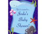 Underwater Baby Shower Invitations Underwater Sea Marine Baby Shower Invitation