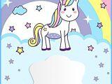 Unicorn Birthday Invitation Templates Unicorn Free Printable First Birthday Invitation Template