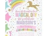 Unicorn Birthday Invitation Wording Unicorn Birthday Invitation Pink Gold Unicorn Zazzle Com Au