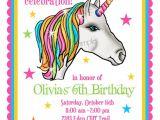 Unicorn Birthday Invitation Wording Unicorn Invitations Unicorn Birthday Party Invitations