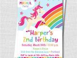 Unicorn Birthday Invitation Wording Unicorn Party Invitation Katarina 39 S Paperie