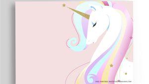 Unicorn Birthday Invitations Free Free Printable Unicorn Birthday Invitation Template