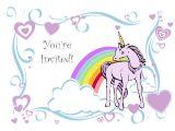 Unicorn Birthday Invitations Free Template Unicorn Birthday Party Invitation Template