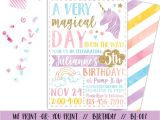 Unicorn Invitations for Birthday Party Unicorn Invitation Rainbow Invitation Magical Birthday