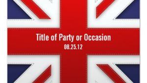 Union Jack Party Invitation Template Free Union Jack Party Invitation Uk Party Invitation Zazzle