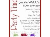 Unique 50th Birthday Invitation Ideas Personalized 50th Birthday Party Invitation