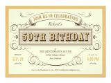 Unique 50th Birthday Invitation Ideas Unique Vintage 50th Birthday Invitations