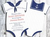 Unique Baby Boy Shower Invitations Sailor Ahoy It S A Boy Esie Baby Shower by