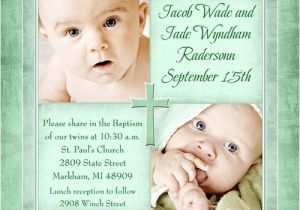 Unique Baptismal Invitation for Baby Boy Personalized Catholic Christening Invitation Boy