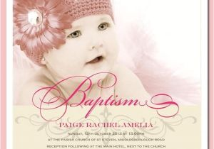 Unique Baptismal Invitation for Baby Girl Baby Girl Christening Invitations