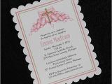 Unique Baptismal Invitation Personalized Baptism Christening Invitations Pink Hearts with