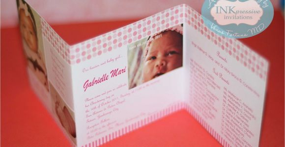 Unique Baptismal Invitation Philippines Baptismal Invitations Baptism Invitations Staples
