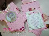 Unique Baptismal Invitation Pink Baby Esie Baptism Invitation