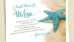Unique Bridal Shower Invitations Beach theme Beach themed Bridal Shower Invitations theme with