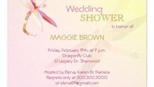 Unique Bridal Shower Invites Dragonfly theme Unique Bridal Shower Invitations 5 25